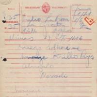 Telegrama homenaje Trillo Pays